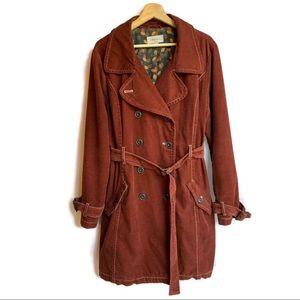 Merona Vintage Trench Suede Coat - XXL